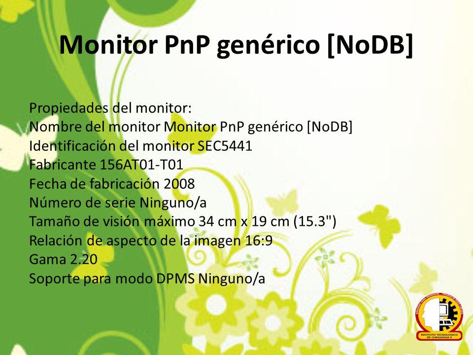 Monitor PnP genérico [NoDB]